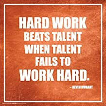 Culturenik TTS100 Kevin Durant Work Sports Quote Poster