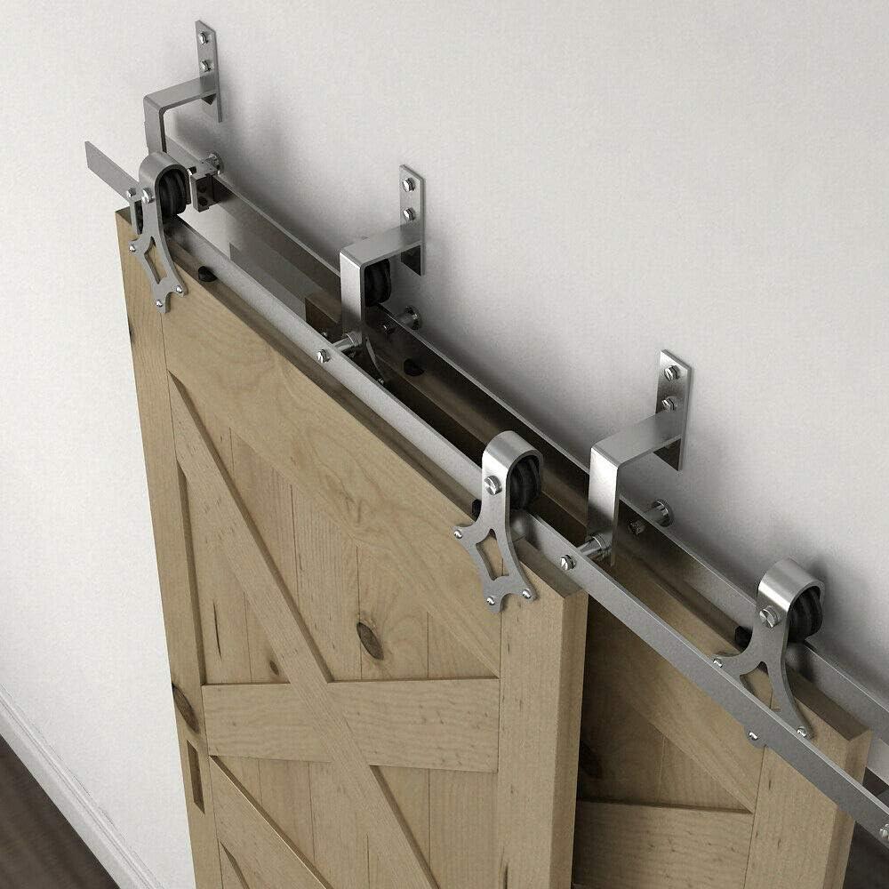 Soporte de pared de acero inoxidable para puerta corredera de ...