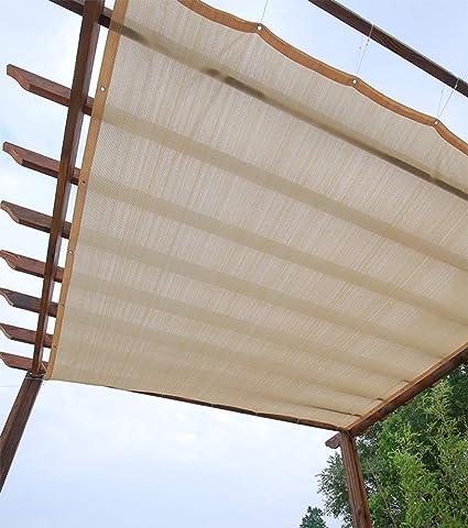 ZJDU Tela De La Cortina del Sol Tela De La Sombra del 90%, Sombra De Malla De Solar para Cubierta Pérgola,Cortina Resistente A Los Rayos UV para La Cubierta Vegetal,Invernadero, Granero: Amazon.es: