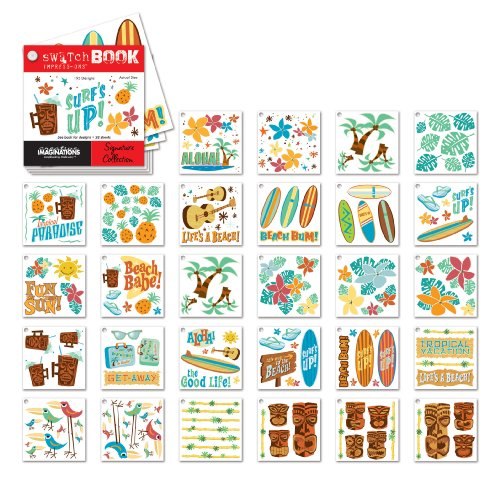 Swatch Book Rub (Creative Imaginations Retro Tropical Swatch Book Impress Ons)