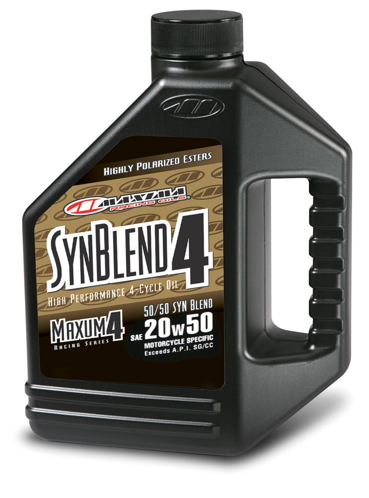 Maxima 359128B Syn Blend4 20W-50 Motorcycle Engine Oil - 1 Gallon Jug