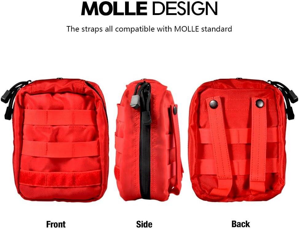 Molle Taktische G/ürteltasche Rucksack Molle Notfalltasche f/ür Outdoor Camping Sport Reisen Wandern VGEBY1 Erste Hilfe Tasche