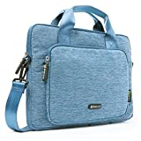 Evecase 13'' 13.3-Inch Notebook Chromebook Laptop Ultrabook Suit Fabric Multi-functional Briefcase Messenger Bag Computer Travel Carrying Case with Handles and Adjustable Shoulder Strap - Blue