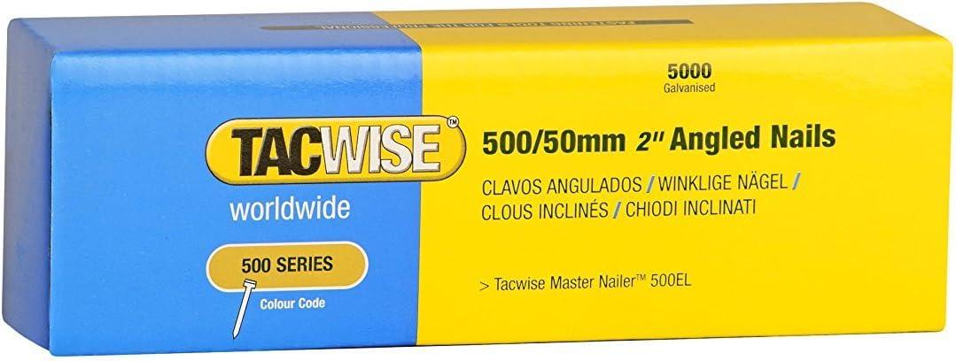 Tacwise 0823 Bo/îte de 5000 Clous galvanis/és pour Cloueur en bande 20 mm Type 500