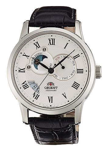 Orient - Reloj automático Sol y Luna con Cristal de Zafiro et0t002s: Amazon.es: Relojes