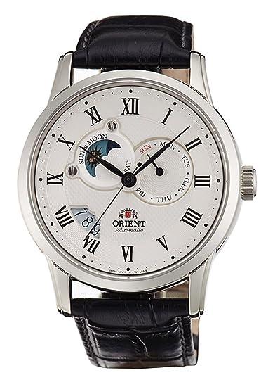 Orient – Reloj automático Sol y Luna con zafiro et0t002s