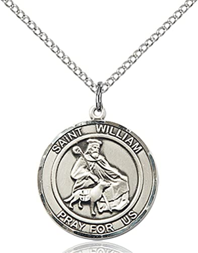 c3a936ddf16 Amazon.com: Sterling Silver St. William of Rochester Pendant with 18