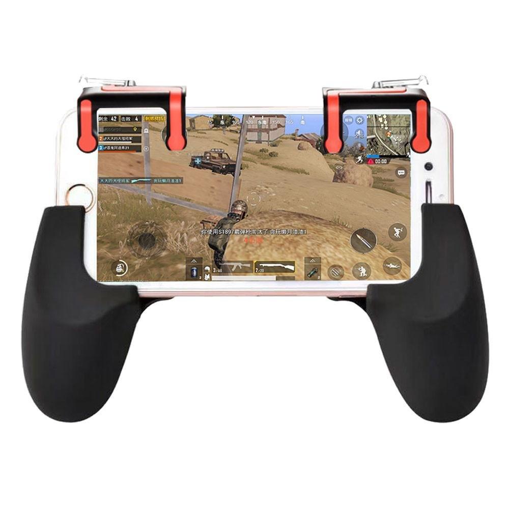 Amazon.es: Para el controlador de juegos móvil de PUBG Disparador Disparador Botón de disparo + Soporte de manija (A)