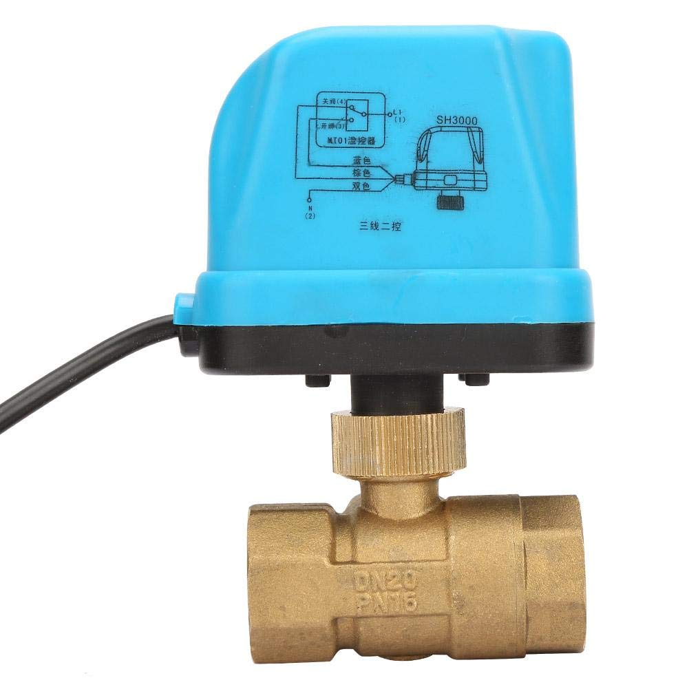 XIEJING Motorized Ball Valve 3AC220V DN40 2 Way 3 Wires Electric Brass Motorized Ball Valve Electric Actuator with Manual Switch Thermostatic Mixer Valve