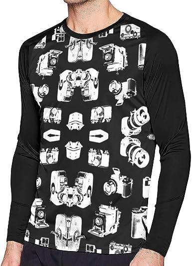 Regular Grid Baseball Top Mens Casual Long Sleeve Raglan Fit T-Shirt