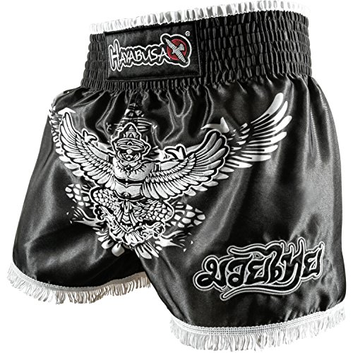 Hayabusa Garuda Muay Thai Shorts (Black, - Thai Hayabusa Muay Shorts