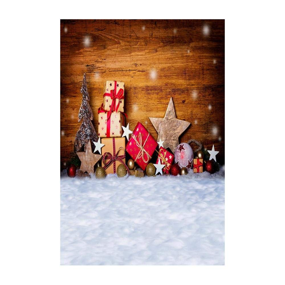 Photography Background,Christmas Backdrops Snow Background Photography Studio Background Decoration (B)