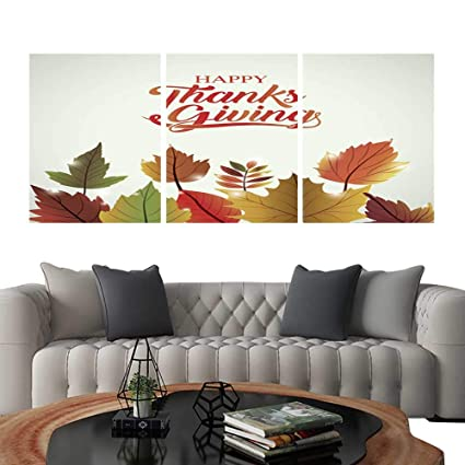 Amazon Com Uhoo 3 Piece Wall Art Painting Leaves Of Thanks Given