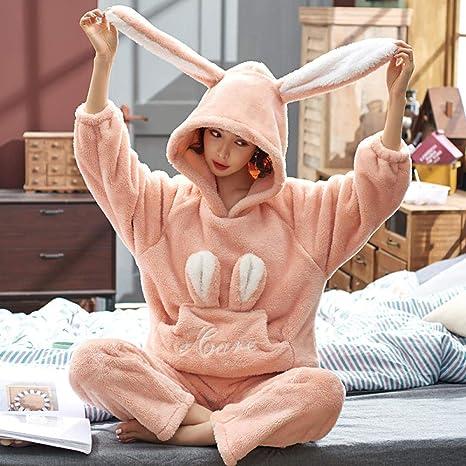 Bayrick Pijamas Mujer Invierno Enteros,Pijamas Set de Manga ...