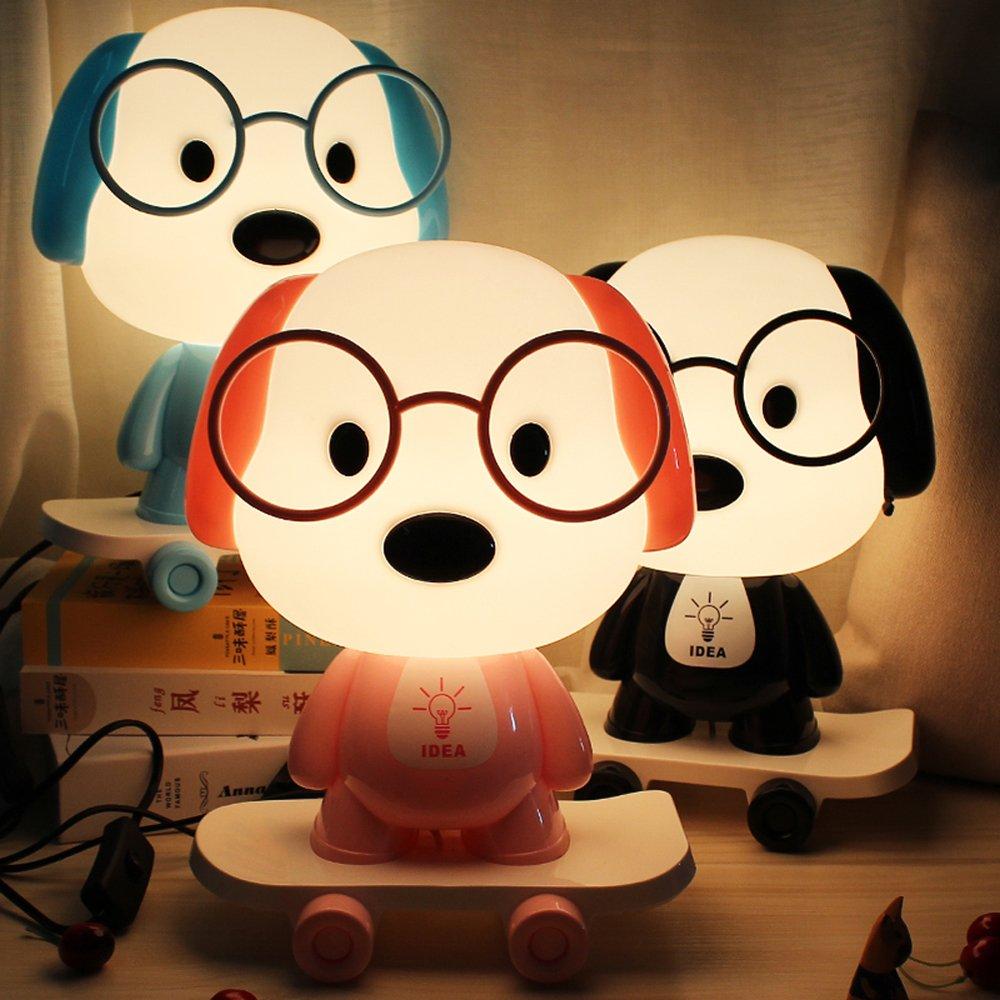 Rest Night Light For Baby Kids Toddler, Cute Cartoon Skateboarding Dog Animals Nightlight Table Desk Lamp, Soft Warm Sleeping Light For Nursery Bedroom Decor by Colors of Rainbow (Image #5)