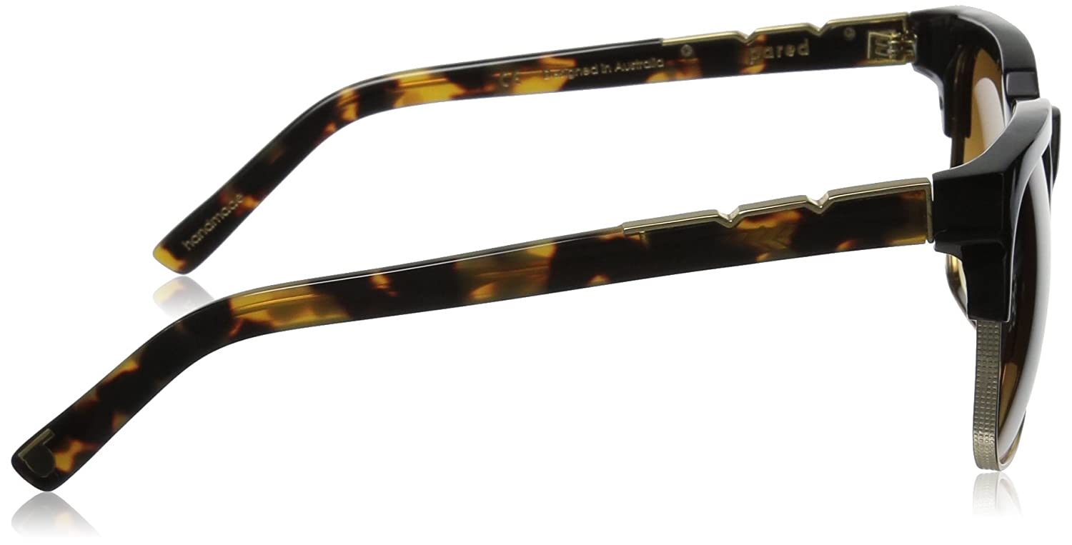 8a7c5a9524a Pared Eyewear Day and Night Black with Gold Rim Wire Brown Square Sunglasses