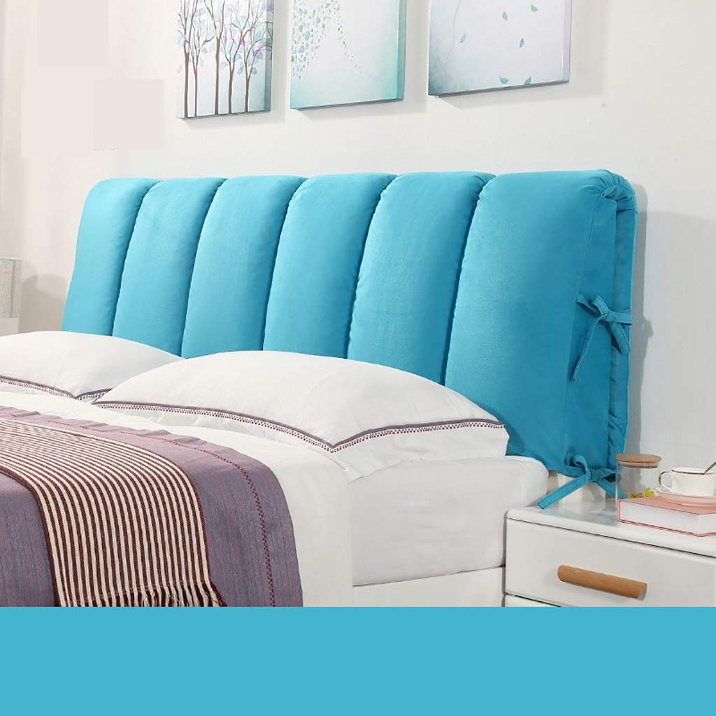 C 120CM Large Soft Upholstered Headboard Cushion Wall Pillow Lumbar Pad Bed Backrest Breathable Removable Washable (color   B, Size   90CM)