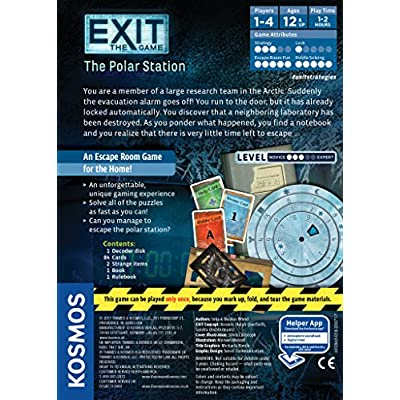 Thames & Kosmos 692865 Exit: The Polar Station   Exit: The Game - A Kosmos Game   Family-Friendly, Card-Based at-Home Escape Room Experience for 1 to 4 Players, Ages 12+: Toys & Games