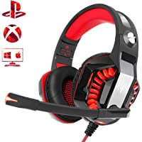 Beexcellent Gaming Headset for PS4 Xbox One PC, Noise-Isolation Headphones with Microphone Stereo Surround Sound for Mac…
