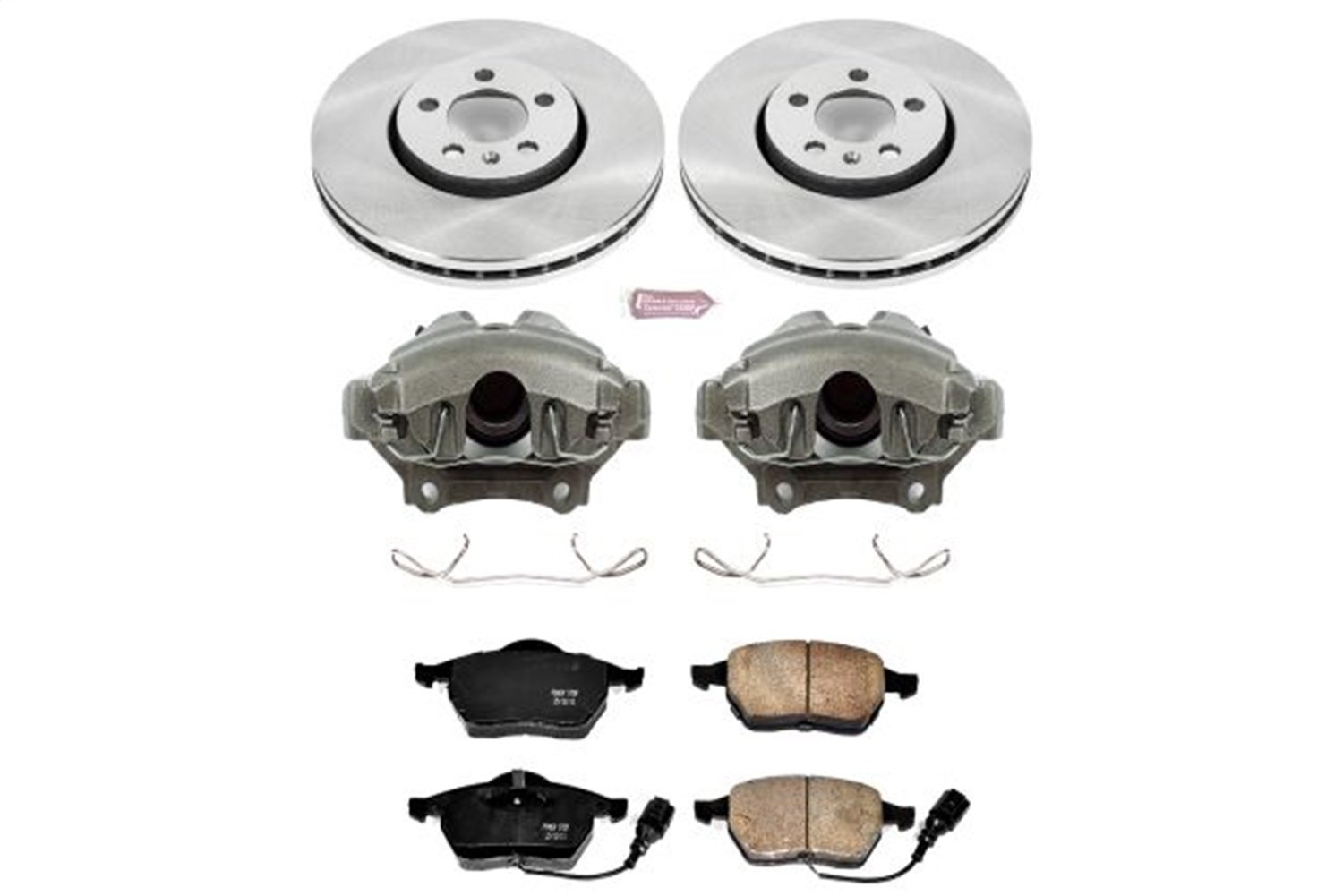 Power Stop KCOE898 Autospecialty 1-Click OE Replacement Brake Kit with Calipers