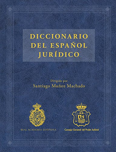 Descargar Libro Diccionario Del Español Jurídico Santiago Muñoz Machado
