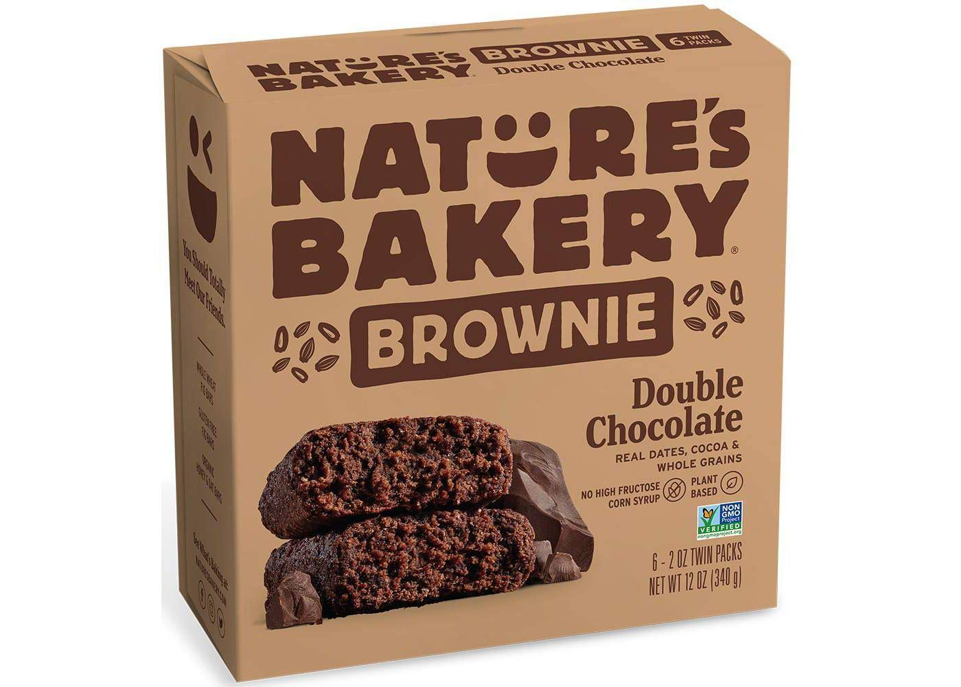 Nature's Bakery Whole Wheat Soft-Baked Bar Brownie Bar with Real Dates/Grains/Cocoa - 6 ct. (12 oz.) by Nature's Bakery FB