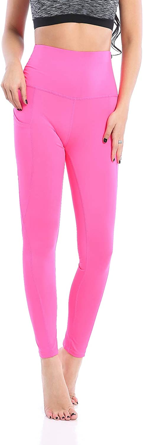 AMZSPORT TRENDY Series Yoga Leggings for Women High Waist Running Pants Fitness Tights with Phone Pocket