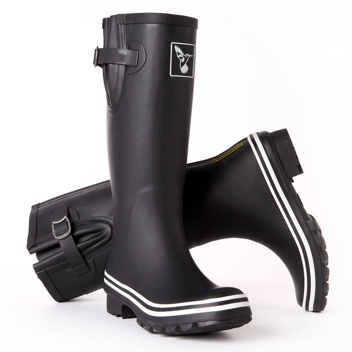 Evercreatures Women's Rain Boots UK Brand Original Tall Rain Boot Gumboots Wellies B00G0S3JQ8 10 B(M) US / UK8 / EU41|Black