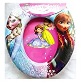 Child's Soft Cushioned Toilet seat (With cartoon characters) (Training Seat) (portable potty) (Frozen)