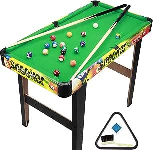 TY-Pool Table MMM@ Mesa de Billar Inicio Deportes para niños Juguetes Ecológicos Mesa de Billar estándar Estadounidense Clubes de Calidad Red de Bolas de Gran Capacidad Ángulo Inferior Antideslizante: Amazon.es: Hogar