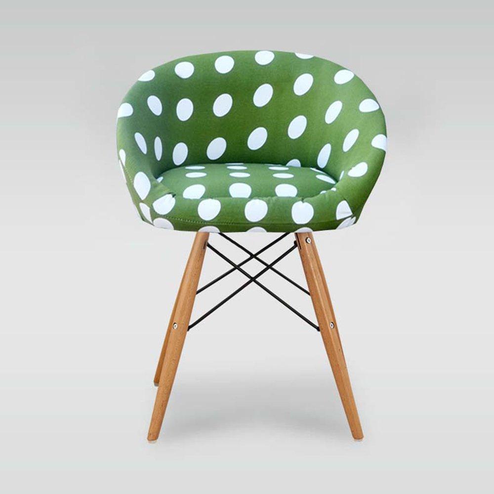 人間工学に基づいた椅子、ファッションチェア、木製のダイニングチェア、小さな家庭用コンピュータチェア ( 色 : 緑 ) B07BGZV5N9 緑 緑