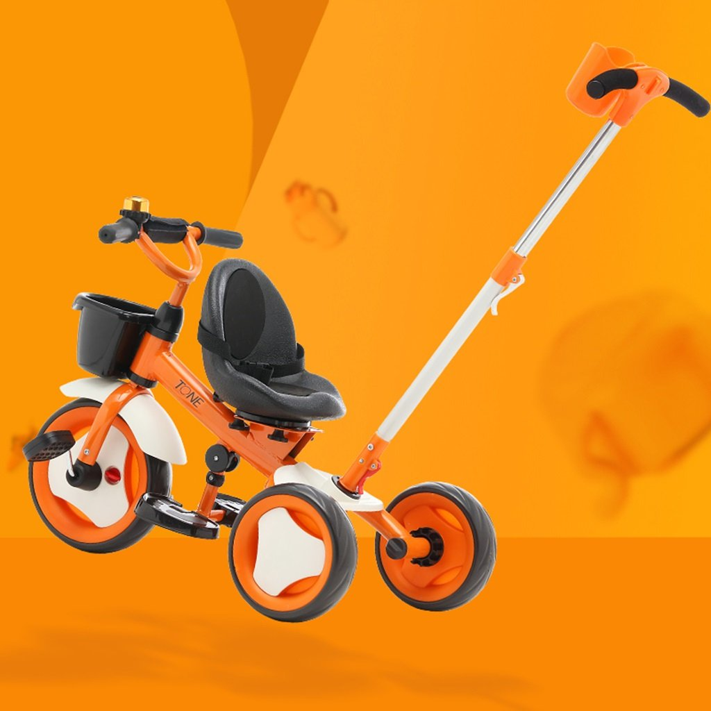 XQ T150子供用三輪車自転車キッズバイク0-5歳パター用シートベルト 子ども用自転車 ( 色 : オレンジ ) B07CGCV4LZ オレンジ オレンジ