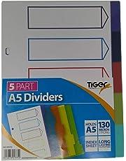Tigre índice de papelería Archivo Carpeta sección Separador Sets para archivadores