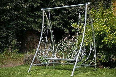 Panca a dondolo in metallo da giardino panca panchina giardino altalena sospesa Banca