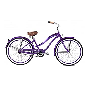 Micargi Rover Lx Beach Cruiser Bike Purple 26 Inch
