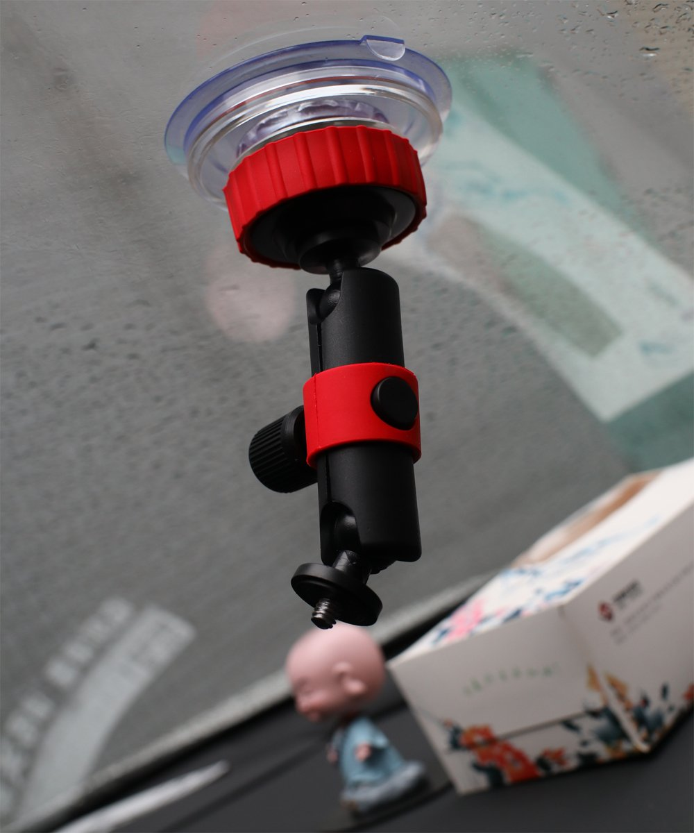 Homeet S/úper Succi/ón Soporte Ventosa para C/ámara con Triple Vac/ío Base Poder de Succi/ón Giro 360/º Bola para Nikon Canon Sony Pentax Olympus GoPro SJCAM Garmin YI Tripod Mount