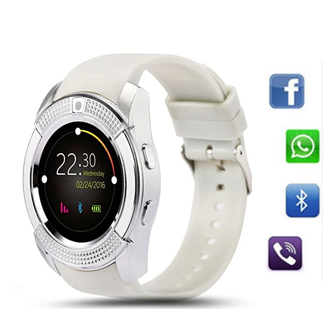 88c57420b TKSTAR Smart Watch Bluetooth V8 Round Touch Screen IPS Sport Watches Sim TF  Card with Camera