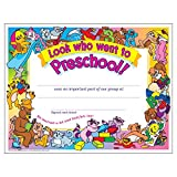 Look Who Went To Preschool! Certificate (30 Pack)