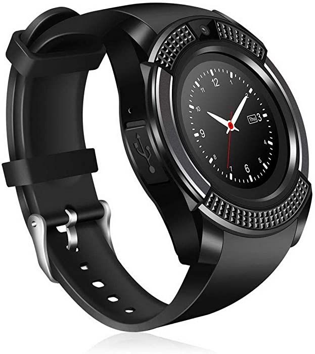 Amazon.com: ThinIce V8 Smart Watch Bluetooth with Camera ...