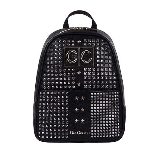 8f7bcdea09 Gio Cellini Zaino borchie nero custom backpack art ZB005 collezione 2019