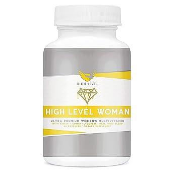 High Level Woman Ultra Premium Multivitamin   Real Whole Food Blend    KSM-66®, CoQ10, Lycopene  