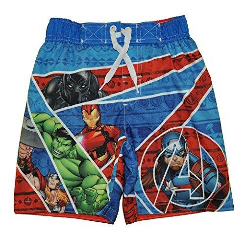 Marvel Big Boys' Avengers Swim Trunk, Royal Blue, 5/6