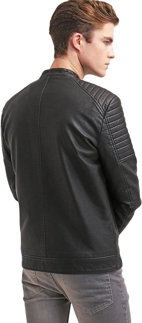 Kingdom Leather Mens Leather Jacket Slim Fit Biker Motorcycle Genuine Lambskin Jacket Coat X1449