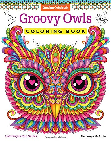 Groovy Owls Coloring Book Fun product image