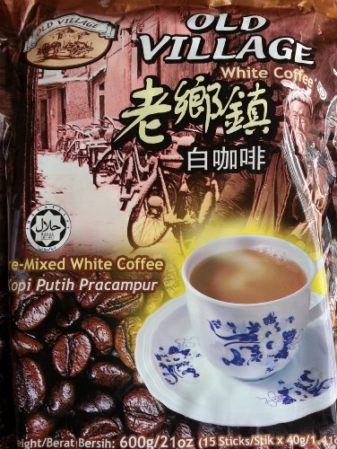 Old Village White Coffee (600g/21oz) 15 Sticks 40g/1.410z