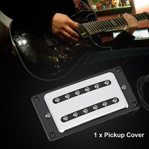 Dilwe Guitarra Puente Humbucker Pickup Covers Lat/ón Cerrado Guitarra Humbucker Puente para Guitarra El/éctrica