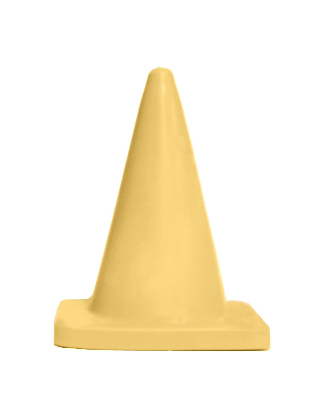 18 Height Polyethylene 03-500-38 Yellow Cortina Sport Cone