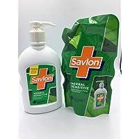 Savlon Handwash Herb Sensitive + Refill, 200 ml + 185 ml