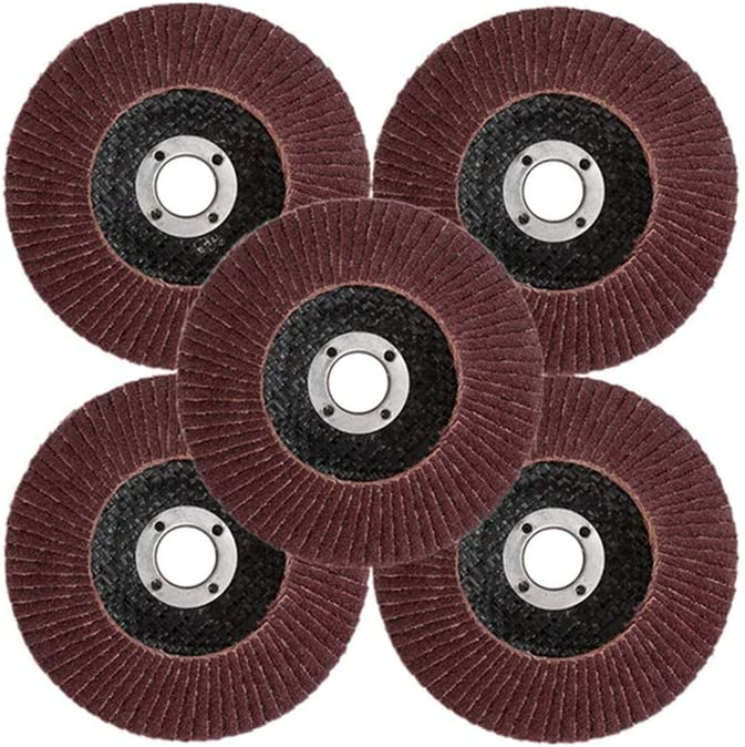 3X Fächerscheibe 125mm Fächerschleifscheibe Korn K80 80 Schleifscheibe 22,2mm
