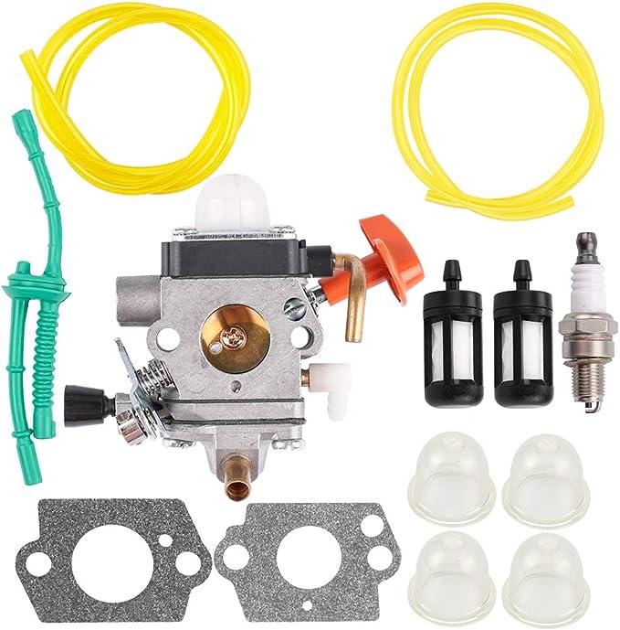 NEW Carburetor For STIHL FS87 FS90 FS100 FS110 KM100 KM110 KM90 w// Fuel Line Kit